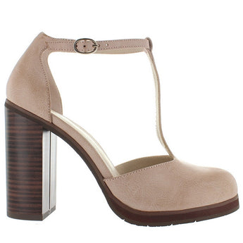 BC Local 2 - Nude T-Strap Pump
