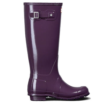 Hunter Original Tall - Gloss Purple Tall Rain Boot