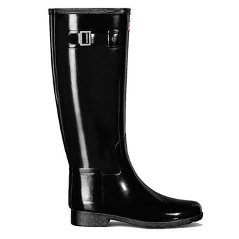Hunter Refined - Gloss Black Tall Rain Boot