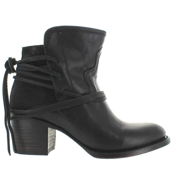 Freebird Casey - Black Leather Pull-On Bootie
