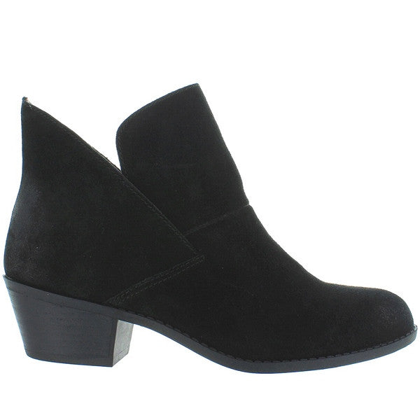 Me Too Zale - Black Suede Pull-On Bootie