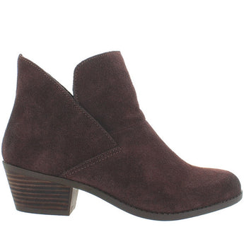 Me Too Zale - Chocolate Suede Pull-On Bootie