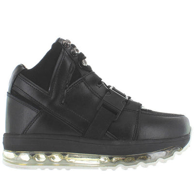 YRU Qozmo Aire - Black High -Top Platform Sneaker