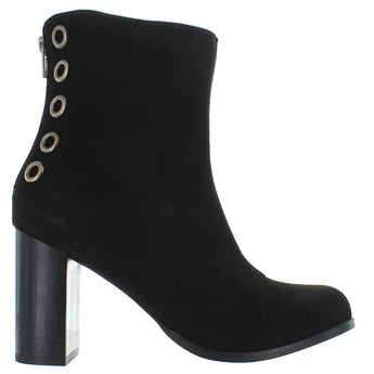 Musse & Cloud Millie - Black Suede Back Zip Boot