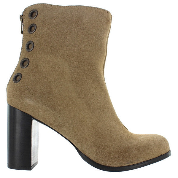 Musse & Cloud Millie - Taupe Suede Back Zip Boot