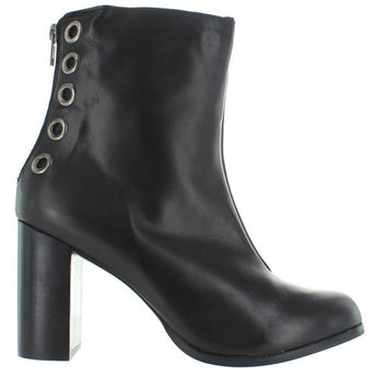 Musse & Cloud Millie - Black Leather Back Zip Boot