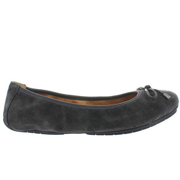 Me Too Halle - Dark Grey Suede Elasticized Ballet Flat