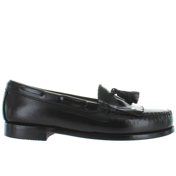Bass Weejuns Layton - Black Leather Tassel-Kilty Moc Loafer