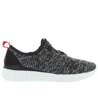 Hey Dude Renova - Charcoal Textile Knit Athleisure Slip-On
