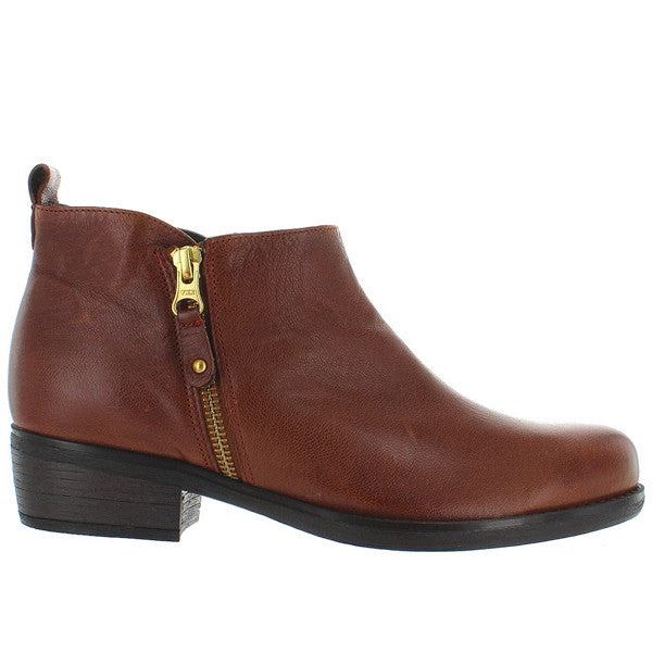 Eric Michael London - Brown Leather Side Zip Bootie