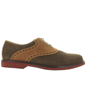 Bass Parker - Olive Suede/Tan Leather Saddle Shoe