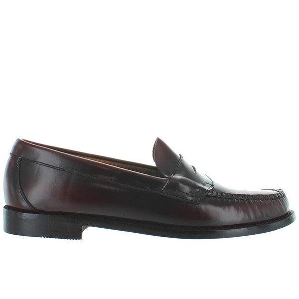 Bass Weejuns Logan - Burgundy Leather Classic Penny Loafer