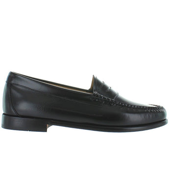Bass Weejuns Whitney - Black Leather Classic Penny Loafer