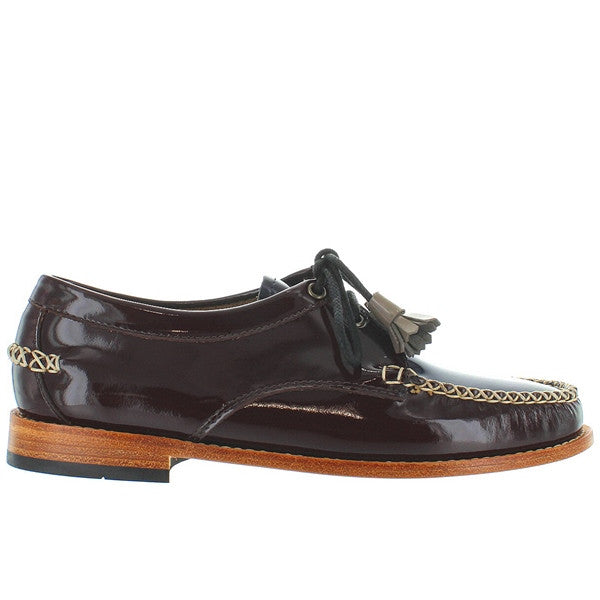 Bass Weejuns Winnie - Brown Multi Patent Leather Tassel Moc Oxford