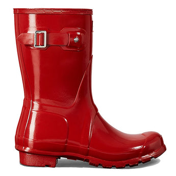 Hunter Original Short - Gloss Military Red Rain Boot