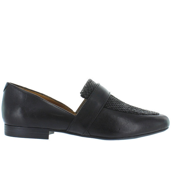 Bass Hillary - Black Snake Embossed Leather Loafer