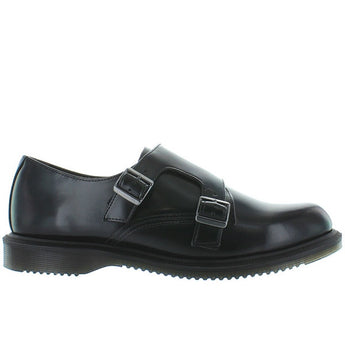 Dr. Martens Pandora - Black Leather Dual Buckle Shoe