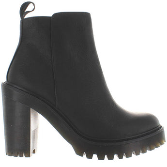 Dr. Martens Magdalena - Black Leather High Chunky Heel/Platform Bootie