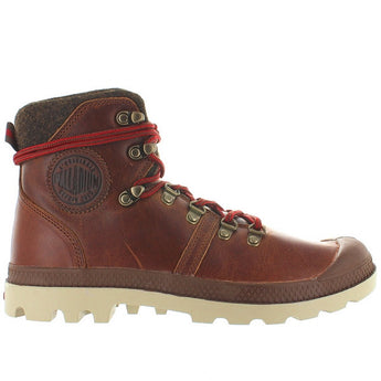 Palladium Pallabrouse Hiker - Sunrise/Red/Safari Leather Hiking Boot 05139-233