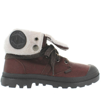 Palladium Pallabrouse Baggy - Waterproof Chocolate/After Dark Leather Fur-Lined Boot 93472-217