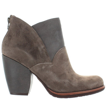 Kork-Ease Castaneda - Grey Suede/Leather Back Zip Bootie