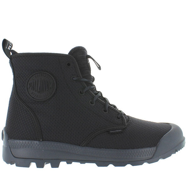 Palladium Pampa Tech High TX - Black/Castlerock Nylon High Top Boot