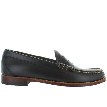 Bass Weejuns Larson - Dark Grey Leather Classic Penny Loafer