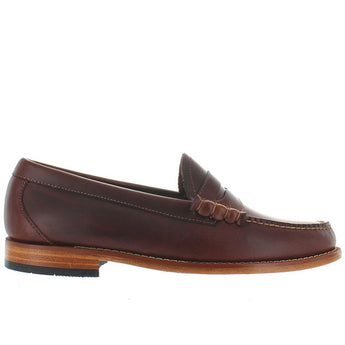 Bass Weejuns Larson - Seahorse Brown Leather Classic Penny Loafer