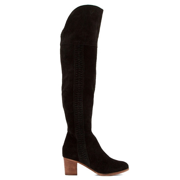 Coconuts Muse - Black Suede OTK Boot MUSE-BLK SUEDE