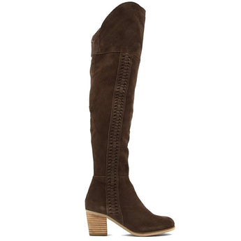 Coconuts Muse - Chocolate Suede OTK Boot MUSE-CHOCOLATE SUEDE