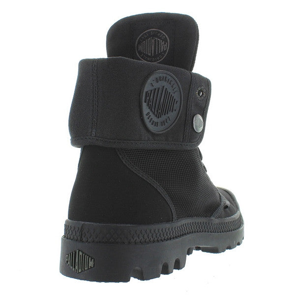 2ce7dad38 Palladium Monochrome Baggy II - Black Canvas Fold-Over Lace-Up Boot ...