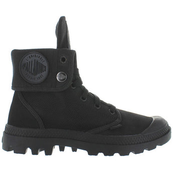 Palladium Monochrome Baggy II - Black Canvas Fold-Over Lace-Up Boot