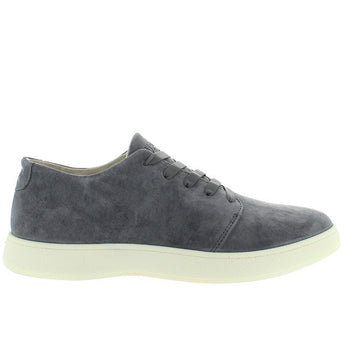Aureus Insignia - Charcoal Grey Suede Elastic Lace Athleisure Sneaker