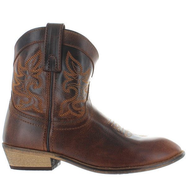 Dingo Willie - Dark Brown Short Cowboy Boot