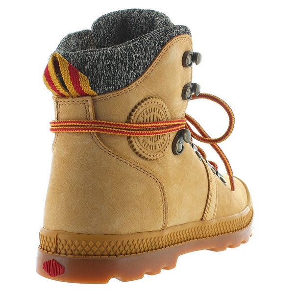 6a5ff19fd23 Palladium Pallabrouse Hiker LP - Amber Gold/Red/Gum Leather/Textile Hiking  Boot