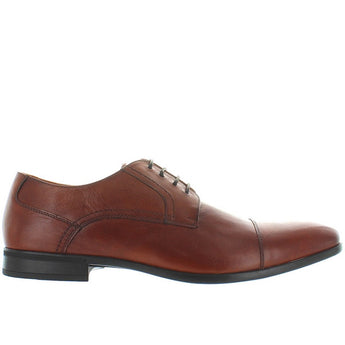Florsheim Burbank - Brown Leather Lace-Up Shoe