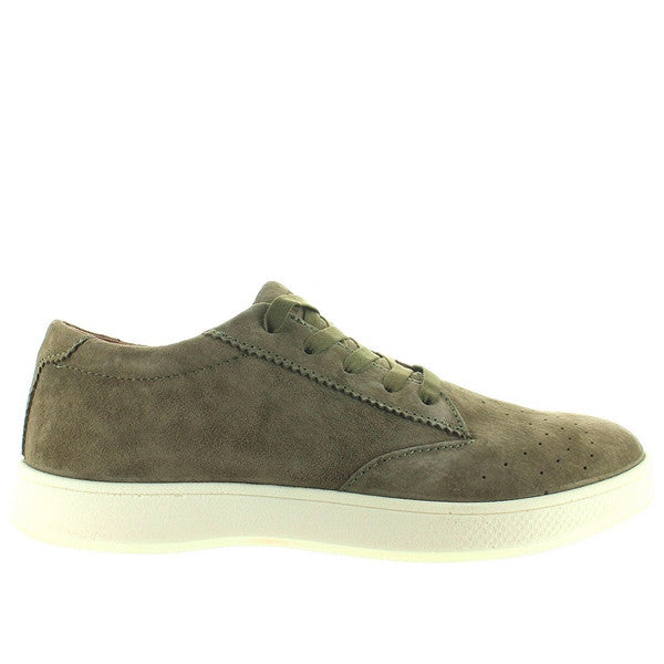 Aureus Fortis - Olive Green Suede Perforated Athleisure Sneaker