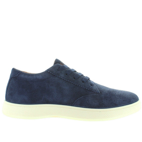 Aureus Fortis - Navy Blue Suede Perforated Athleisure Sneaker