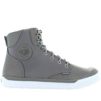 Palladium Pallarue Hi Cuff - Waterproof Titanium Leather/Nylon Athleisure Boot 05144-090