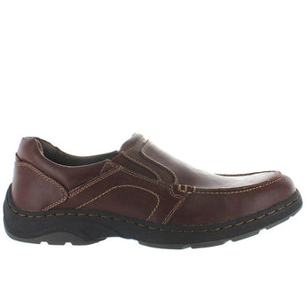 Deer Stags Wells - Redwood Leather Moc Slip-On