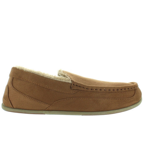 Deer Stags Slipperooz Aspen - Chestnut Microsuede Indoor/Outdoor Moc Slipper