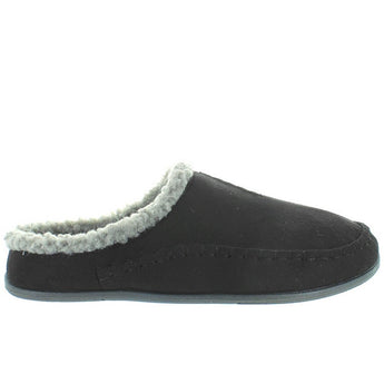 Deer Stags Slipperooz Nordic - Black Microsuede Indoor/Outdoor Moc Slipper