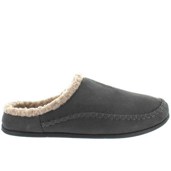 Deer Stags Slipperooz Nordic - Charcoal Microsuede Indoor/Outdoor Moc Slipper