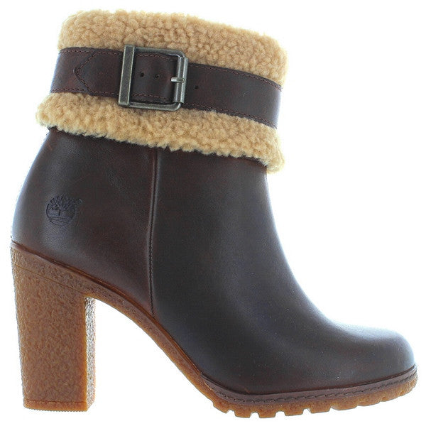 Timberland Earthkeepers Glancy Teddy - Brown Leather Buckle Strap Bootie