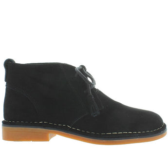 Hush Puppies Cyra Catelyn - Black Suede Chukka Boot HWR5490-001