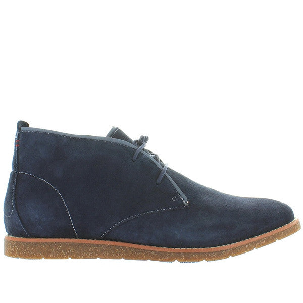 Hush Puppies Roland Jester - Navy Blue Suede Chukka Boot