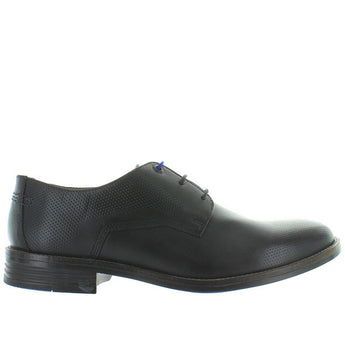 Hush Puppies Glitch Parkview - Black Leather Perforated Oxford