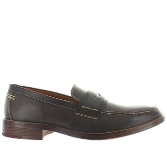 Hush Puppies Gallant Parkview - Dark Brown Leather Penny Loafer