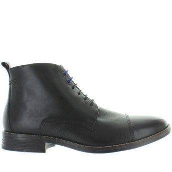 Hush Puppies Gage Parkview - Black Leather Cap Toe Lace-Up Boot HM01528-001