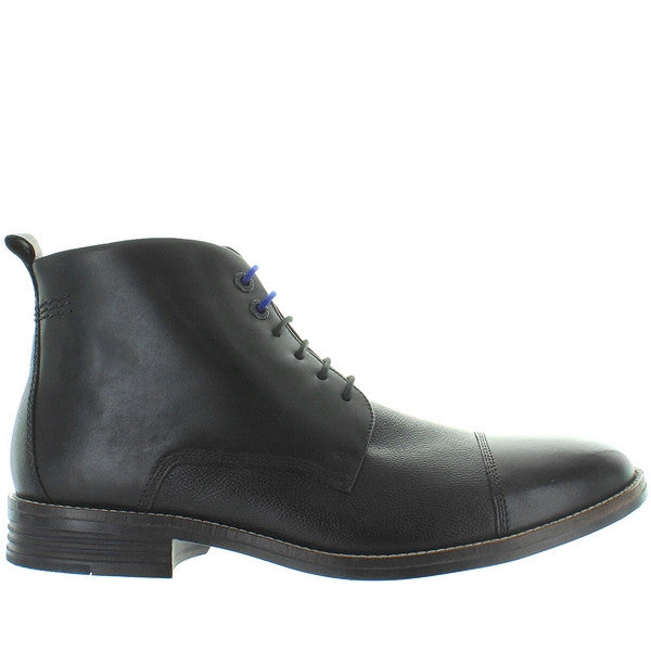 Hush Puppies Gage Parkview - Black Leather Cap Toe Lace-Up Boot